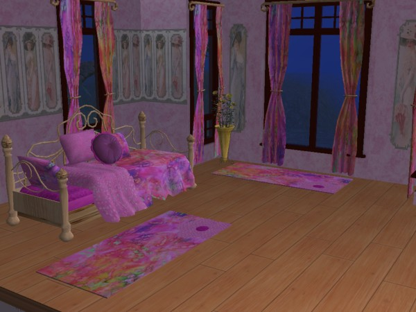 Chambre SIP3 Rose  / Pink SIP3 bedroom